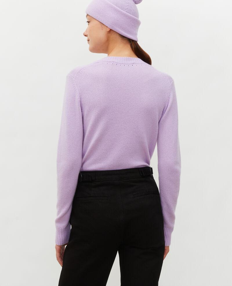 V-neck cashmere jumper Pastel lilac Millac