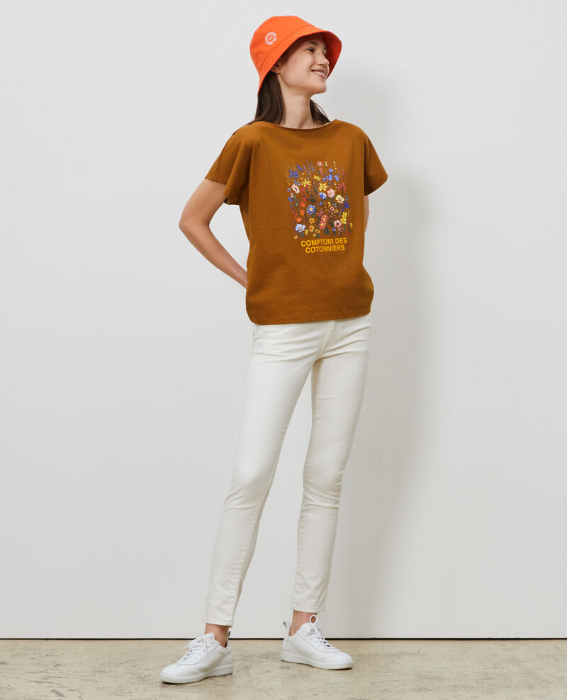 Short-sleeve cotton t-shirt Bronze brown Marcelin