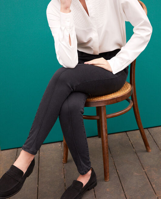 7/8 skinny cropped jeans Black