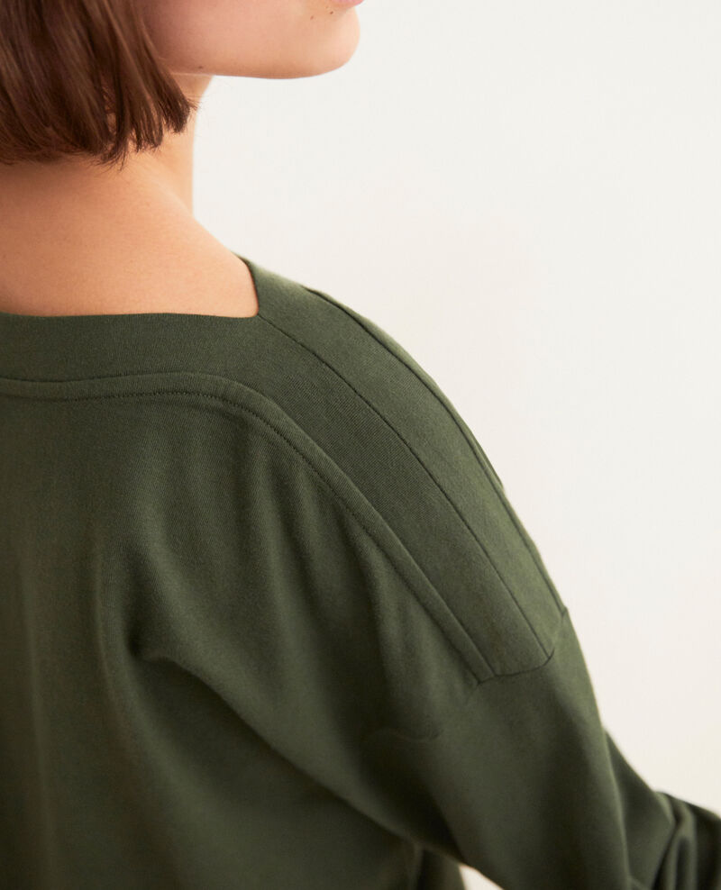 Boatneck sweatshirt Kaki Inkaja