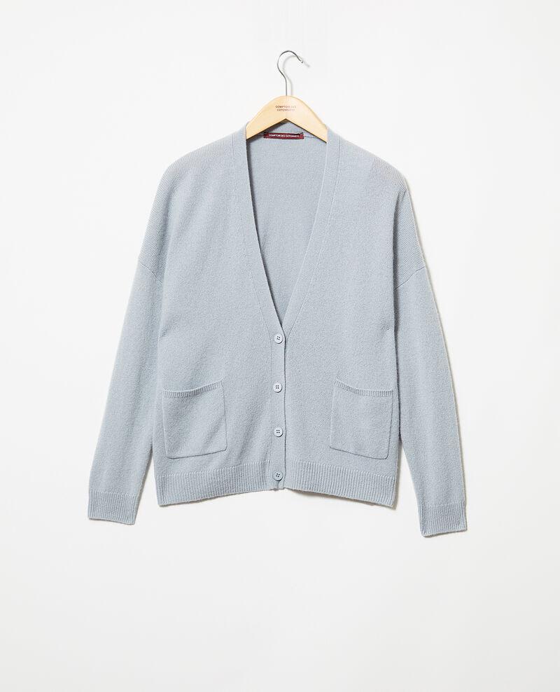 Cashmere cardigan Blue mirage Ilton