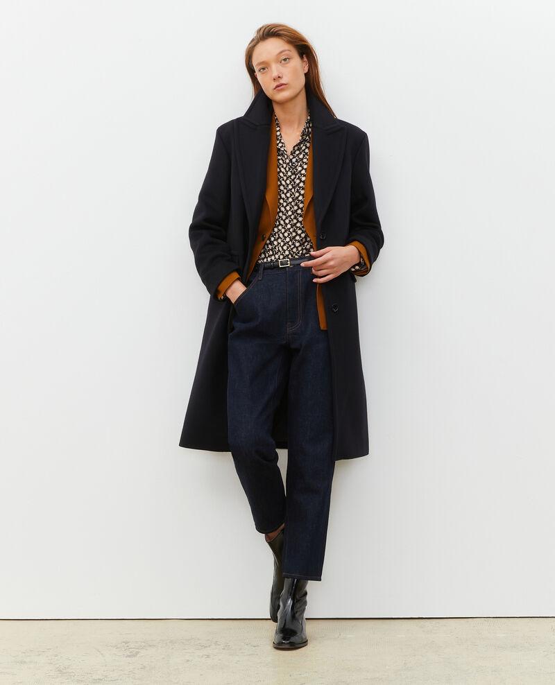 Wool and cashmere boyfriend overcoat Black beauty Maule