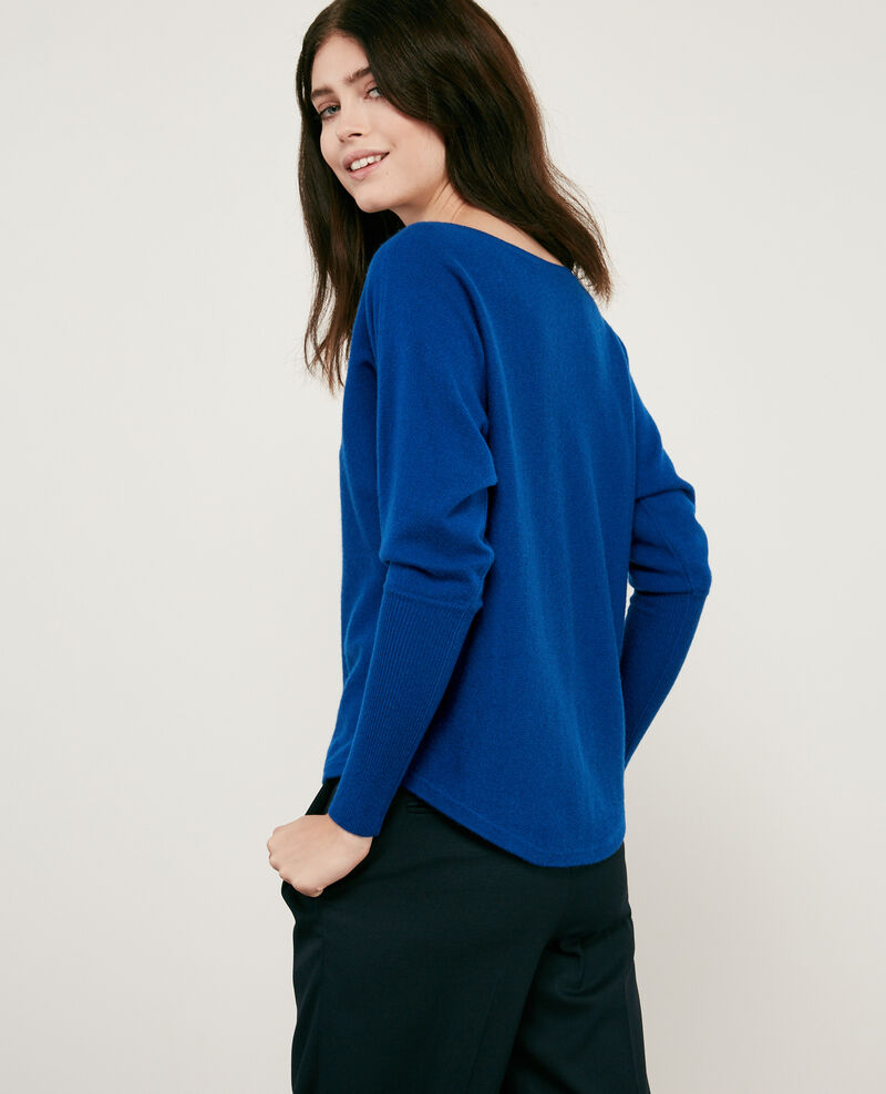 106357a52016 100% cashmere jumper Sapphire - Delamour