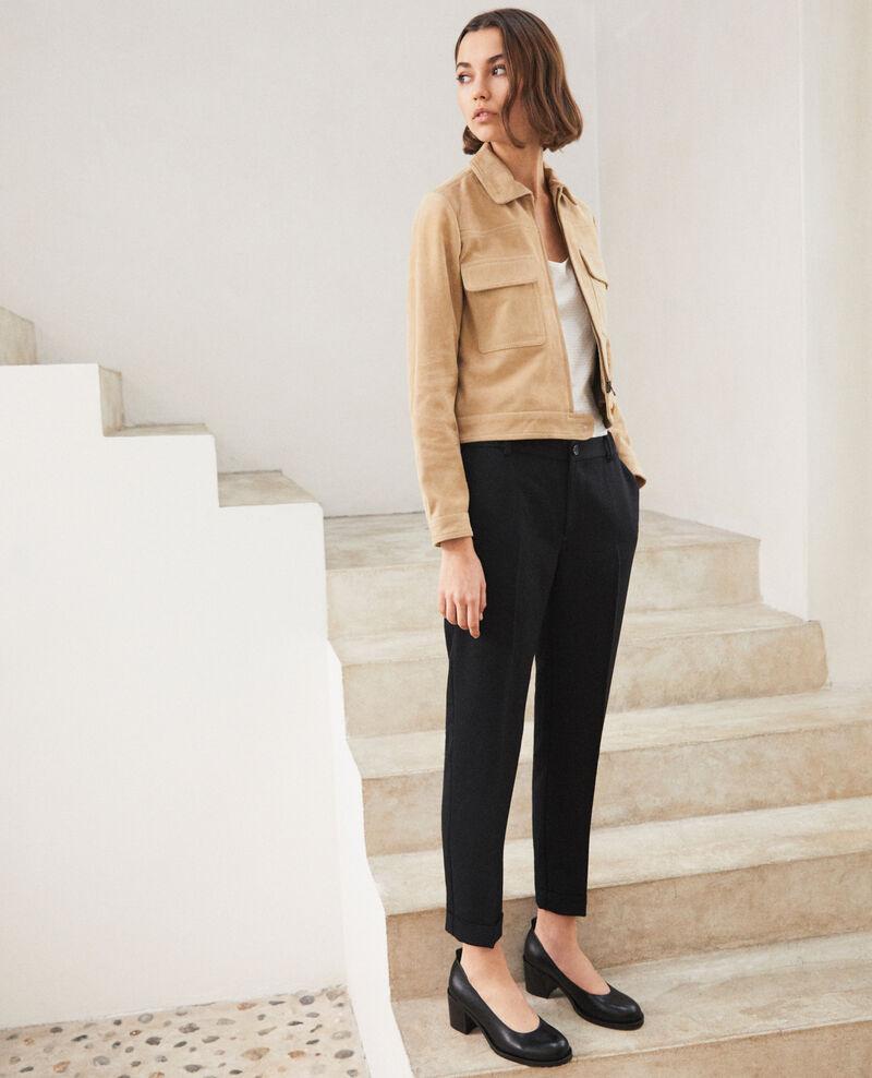 Leather heels Noir Idoc