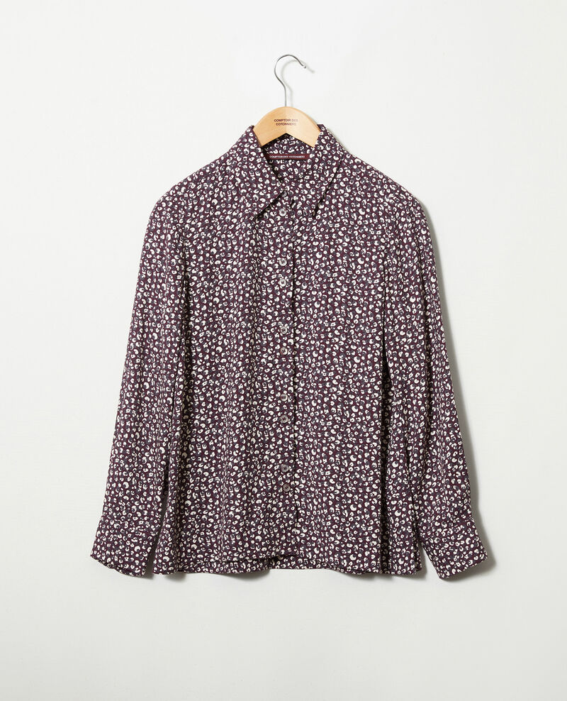 Printed shirt Leopard potent purple Jumulus