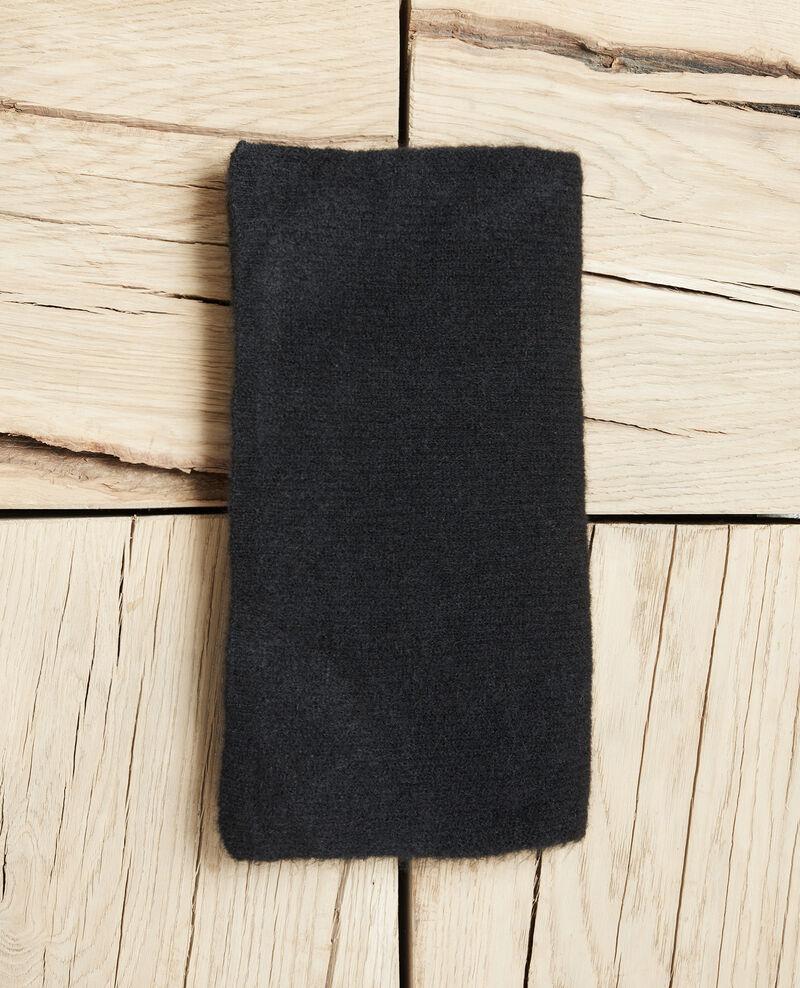 Fluffy scarf Noir Jecou