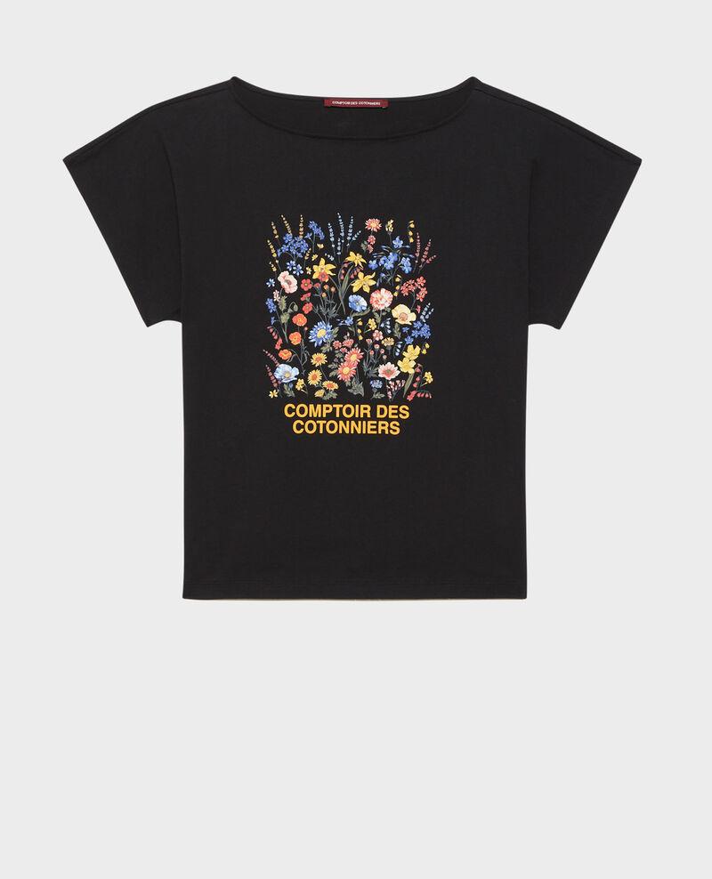 Short-sleeve cotton t-shirt Black beauty Marcelin