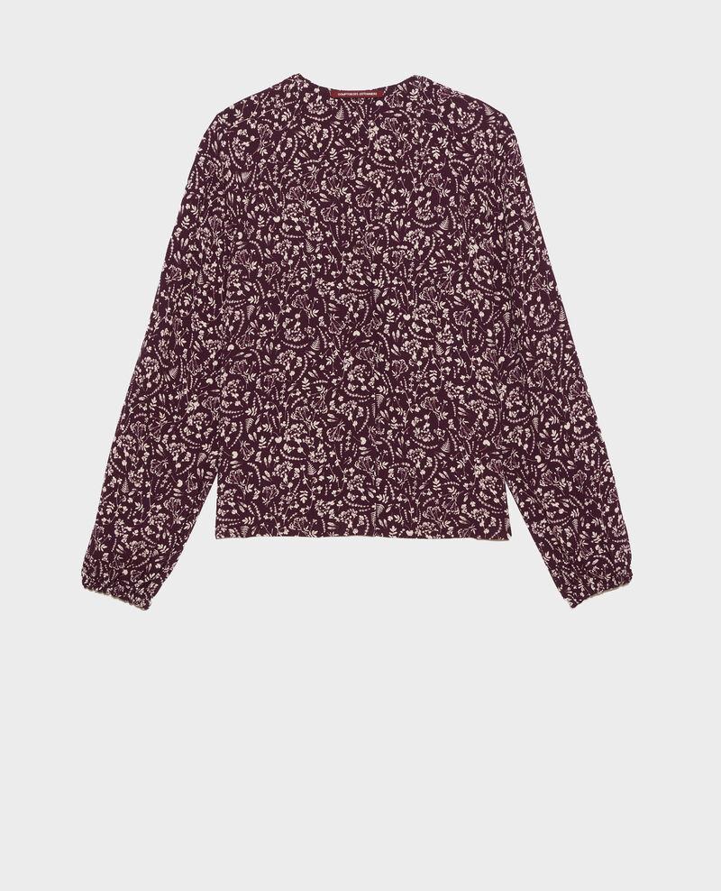 Printed blouse Cyanotype purple Prince