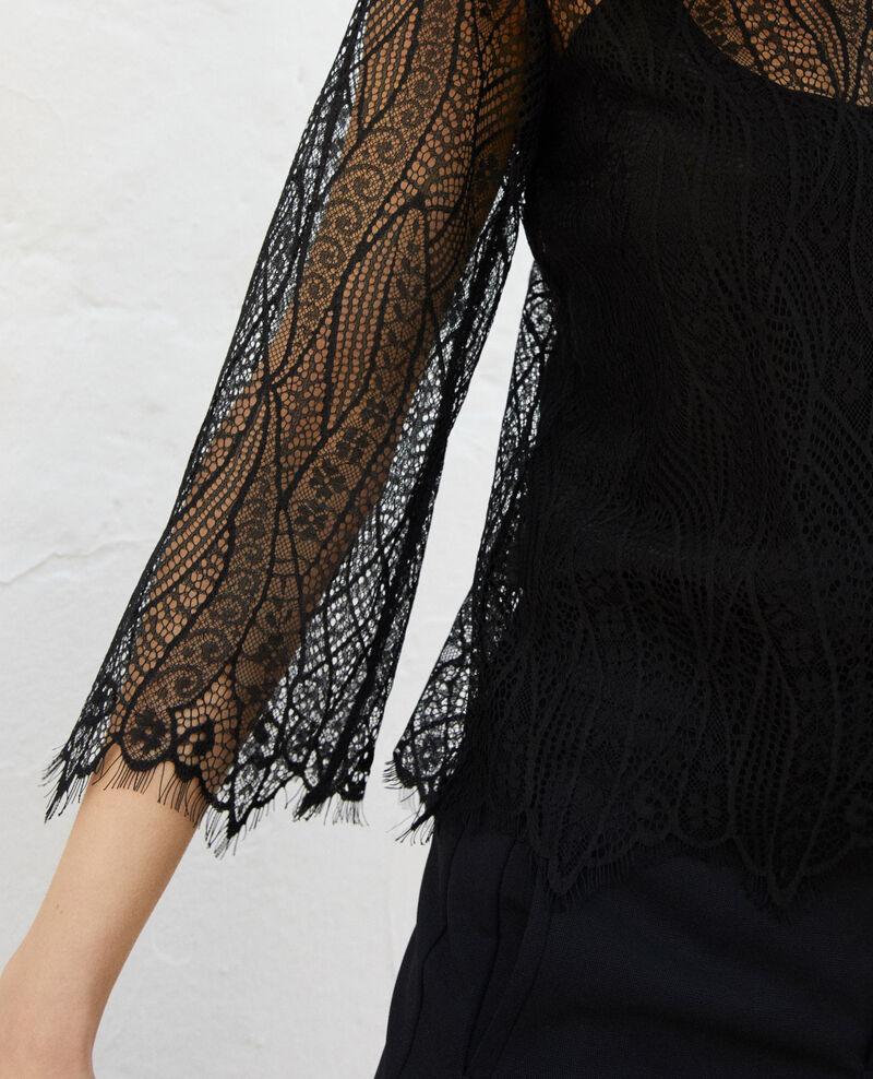 Lace blouse  Noir Ilanka