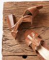 Braided sandals Cognac Fonelle