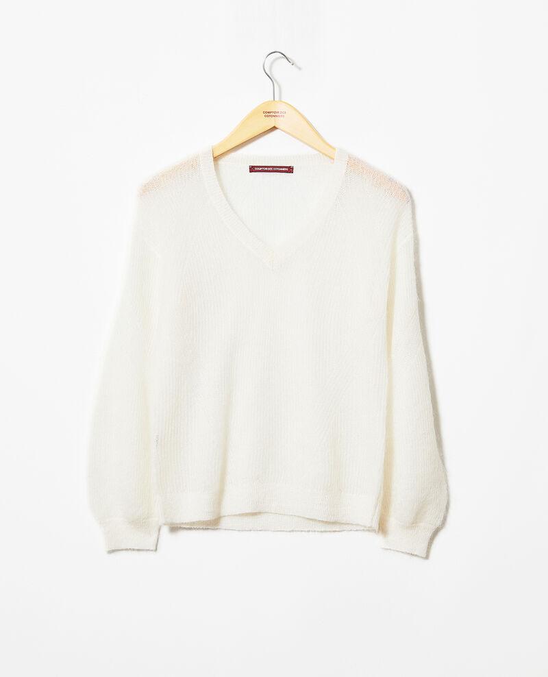 V-neck mohair jumper Blanc Iceve