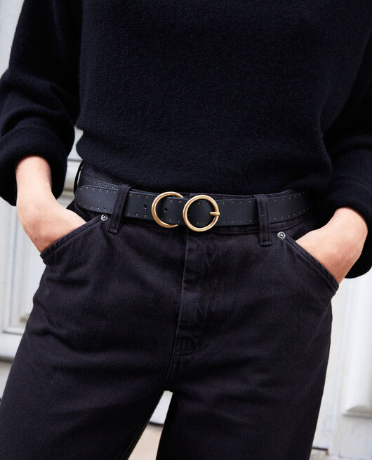 Leather belt NOIR