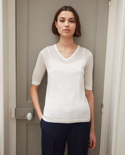 Knit t-shirt OFF WHITE