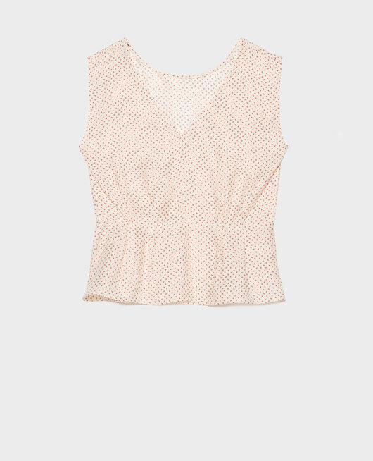 Silk blouse MEMPHIS BUTTERCREAM