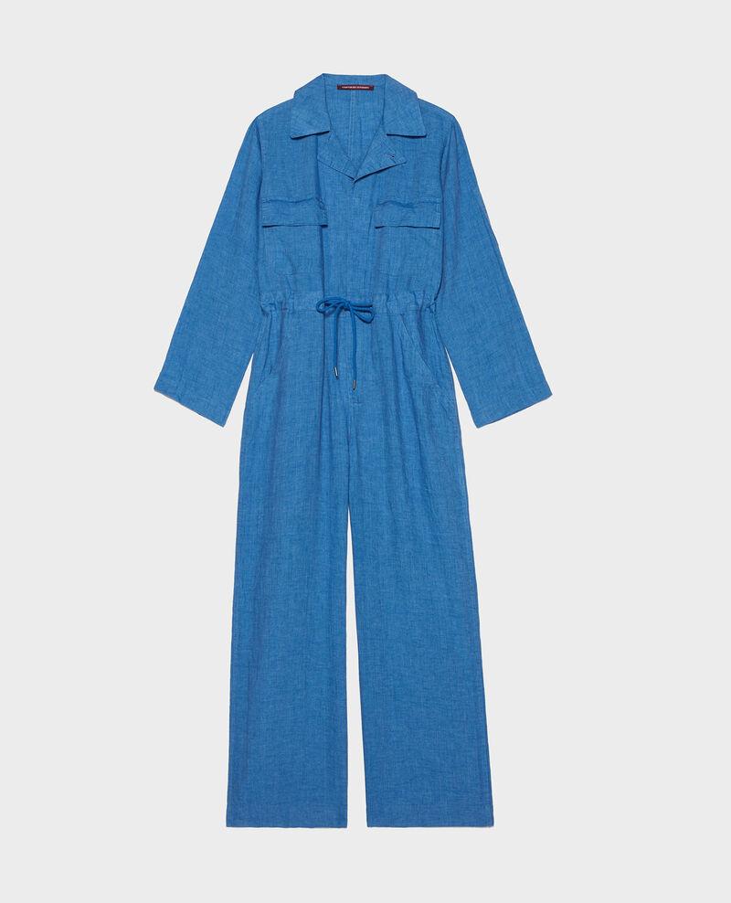 Long linen jumpsuit Indigo Lachassain