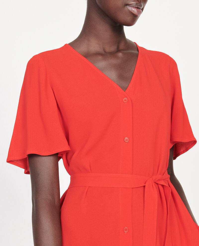Loose dress Fiery red Lavishort