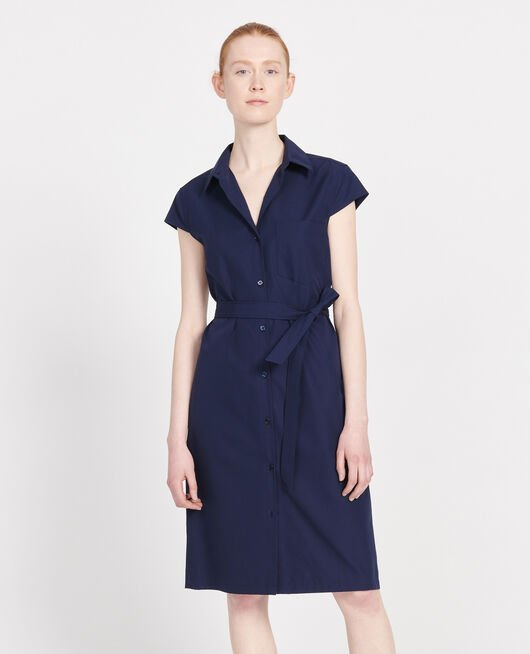 Cotton dress MARITIME BLUE