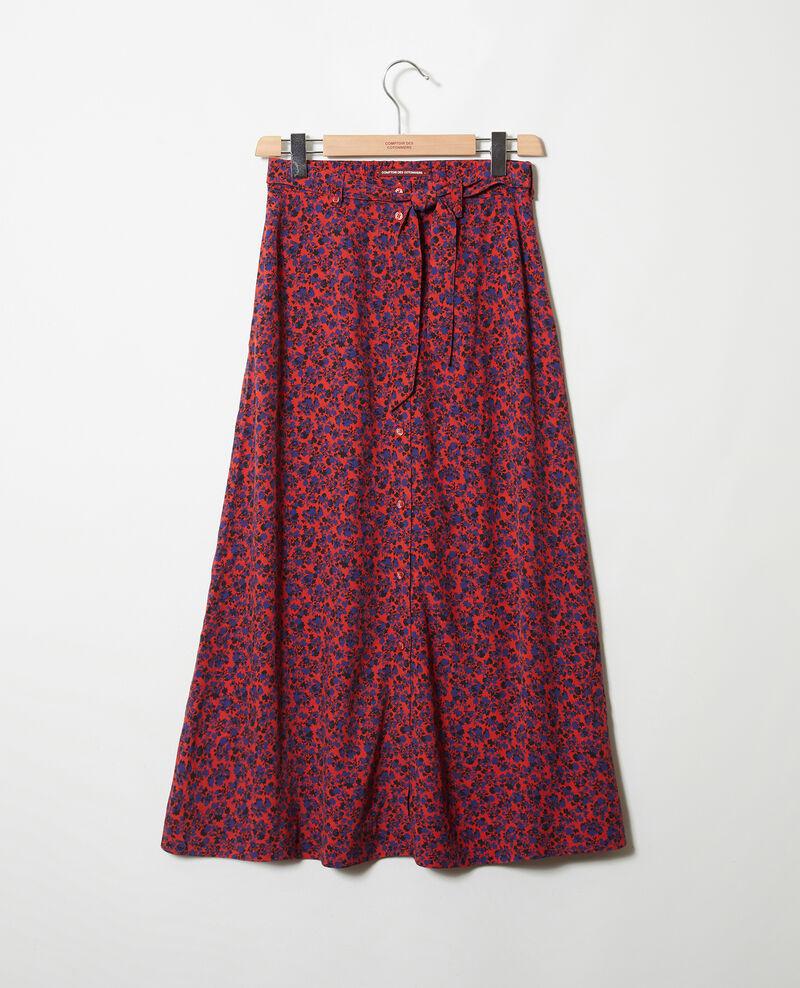 Printed maxi skirt Nf molten lava Jura