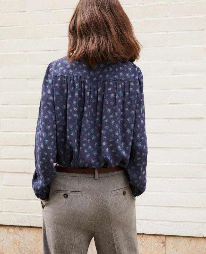 Loose printed blouse Bl peacoat Gentiana