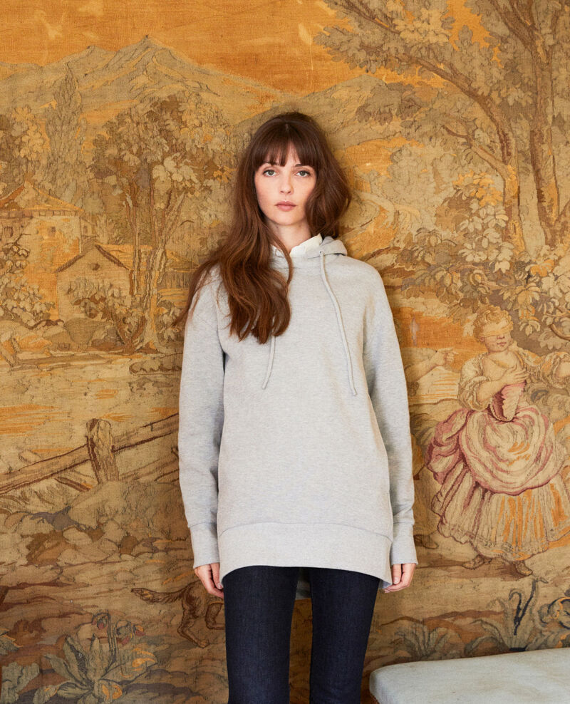 Hooded sweatshirt Light grey Jasette
