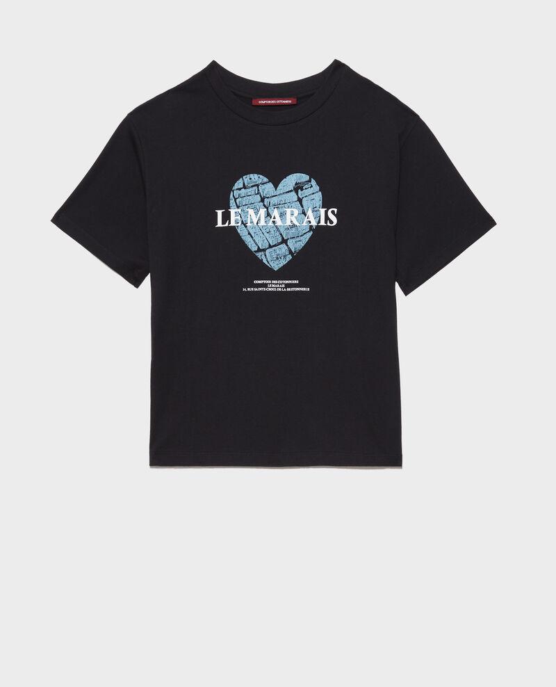 Short-sleeve cotton t-shirt Black beauty Mia