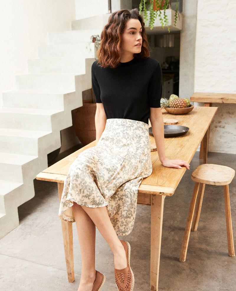 Printed skirt Bandana light beige Itinera