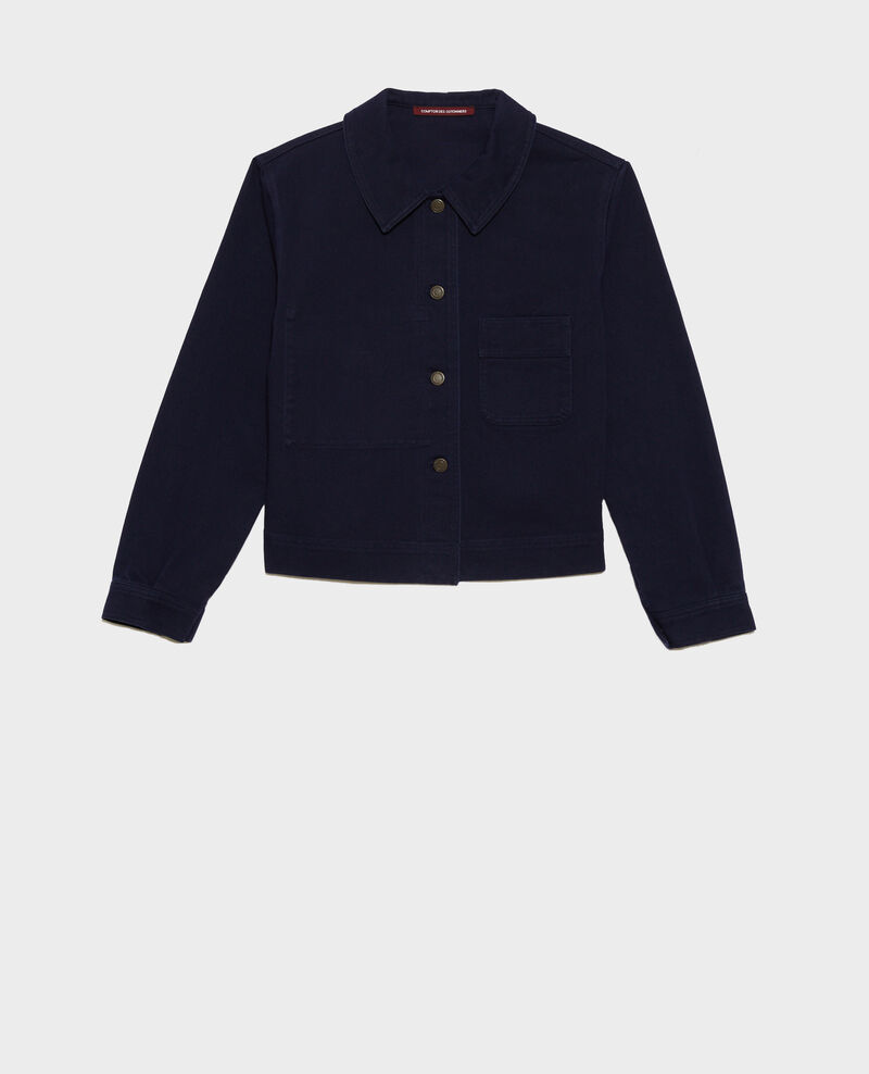 Short cotton jacket Maritime blue Nana