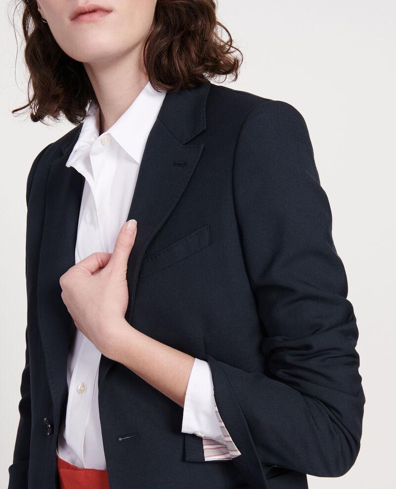 Smooth wool blazer Dark navy Luscade