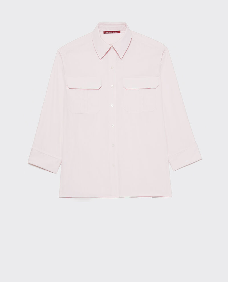 Oversize cotton men's shirt  Primrose pink Lauryl