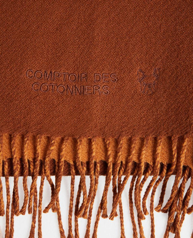Reversible wool scarf Sudan brwn Pautes