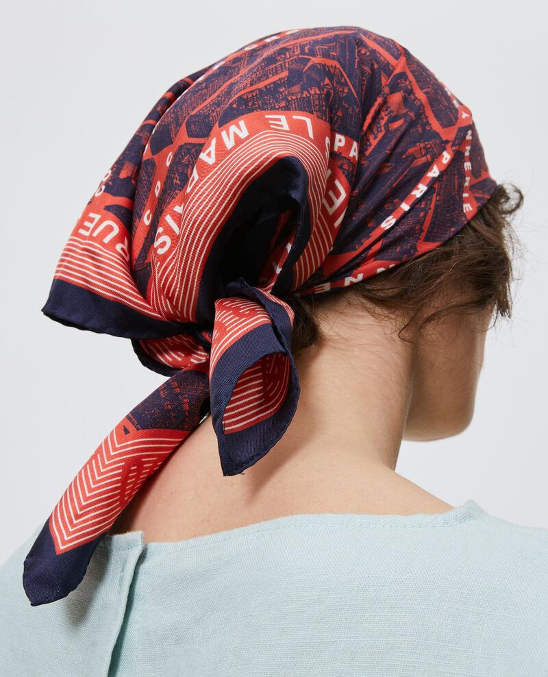 Square silk scarf Valiant poppy Mamap