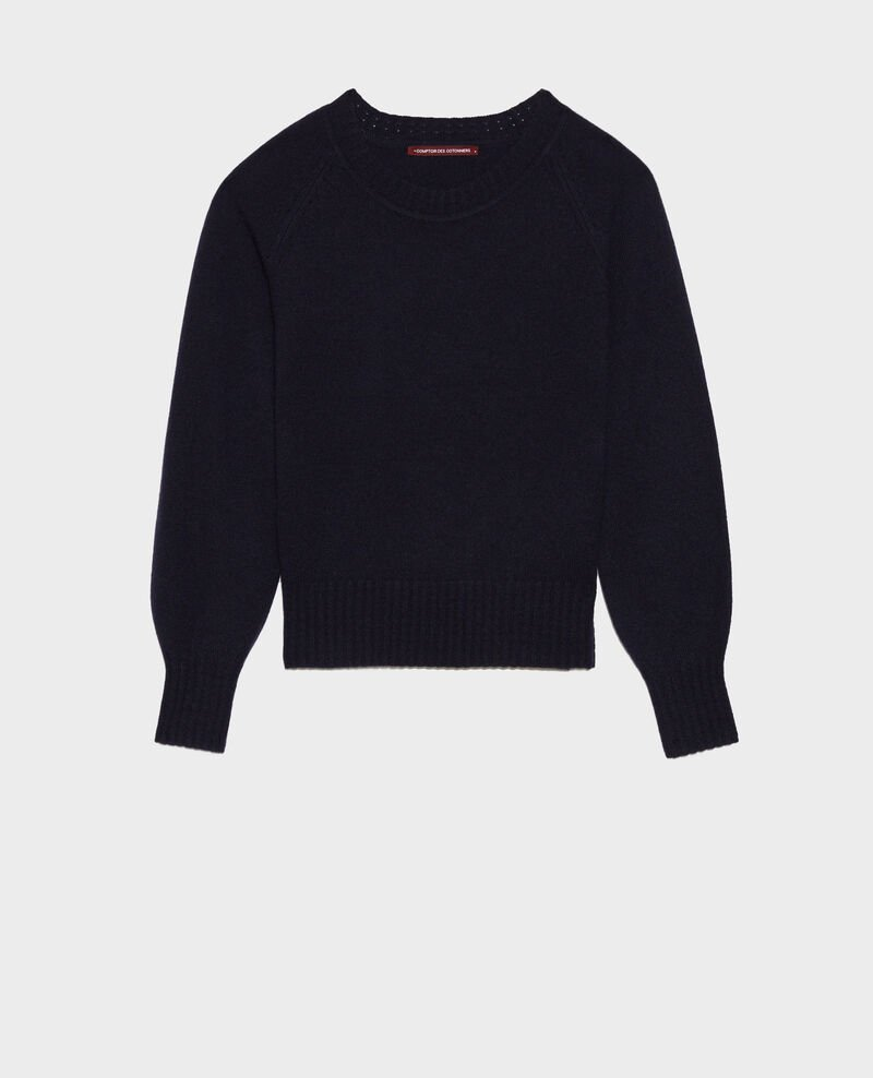 Round-neck cashmere jumper Night sky Nogna