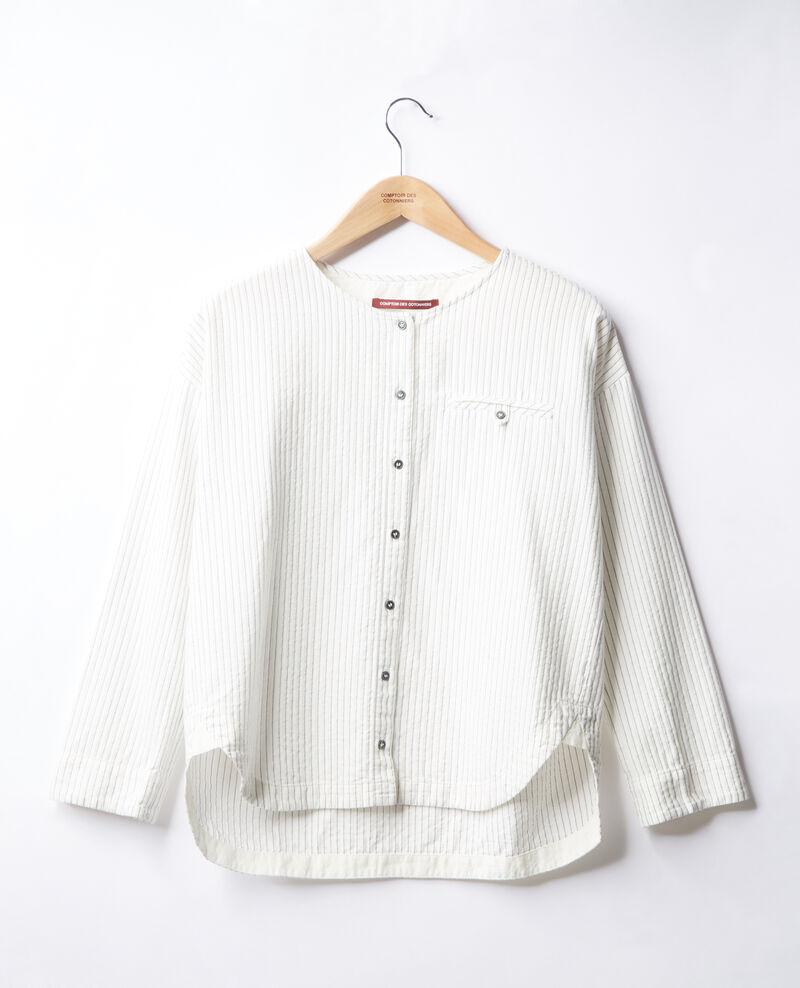 Striped shirt Off white/navy stripes Falaise