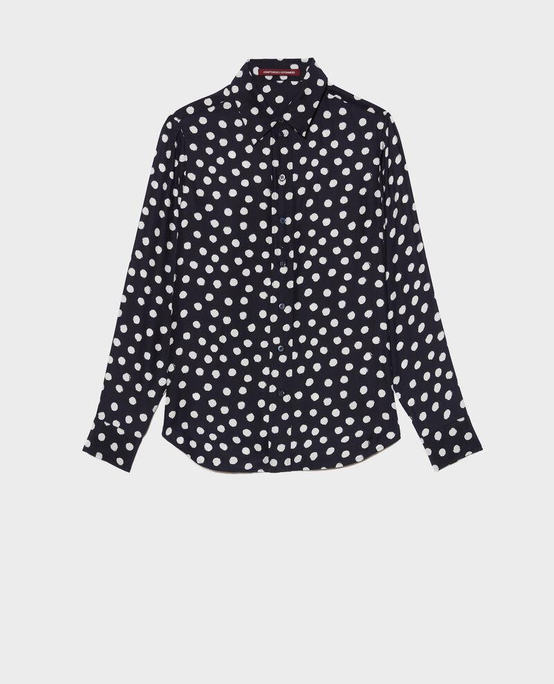 SIBYLLE - Printed silk shirt Big dots Nabilo