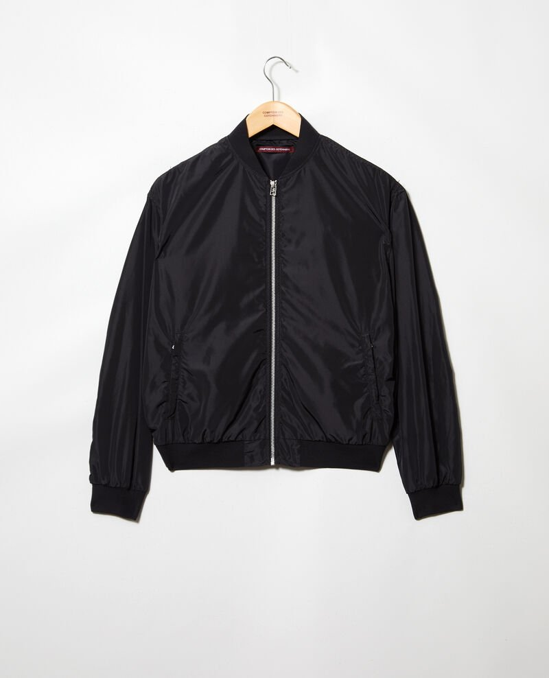 Waterproof bomber-style jacket Noir Illica