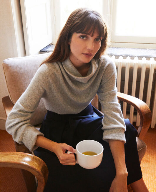 Turtleneck cashmere jumper LIGHT GREY