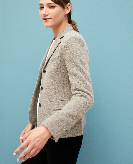 Wool blend blazer Beige