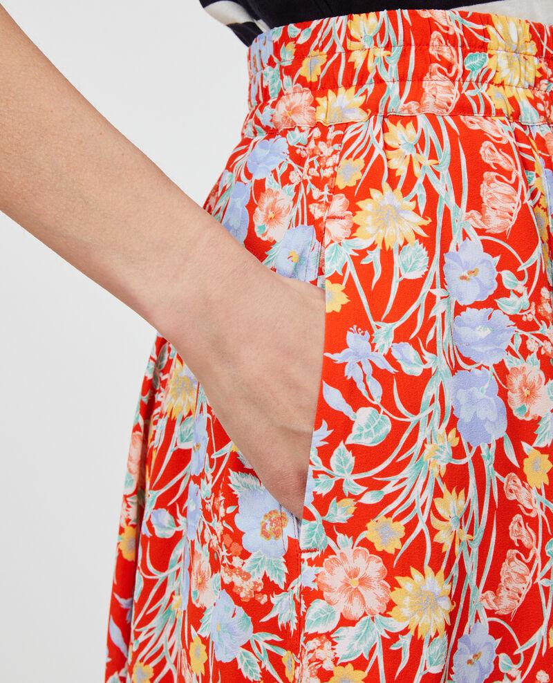 Mid-length skirt Ete red small Nanthiat