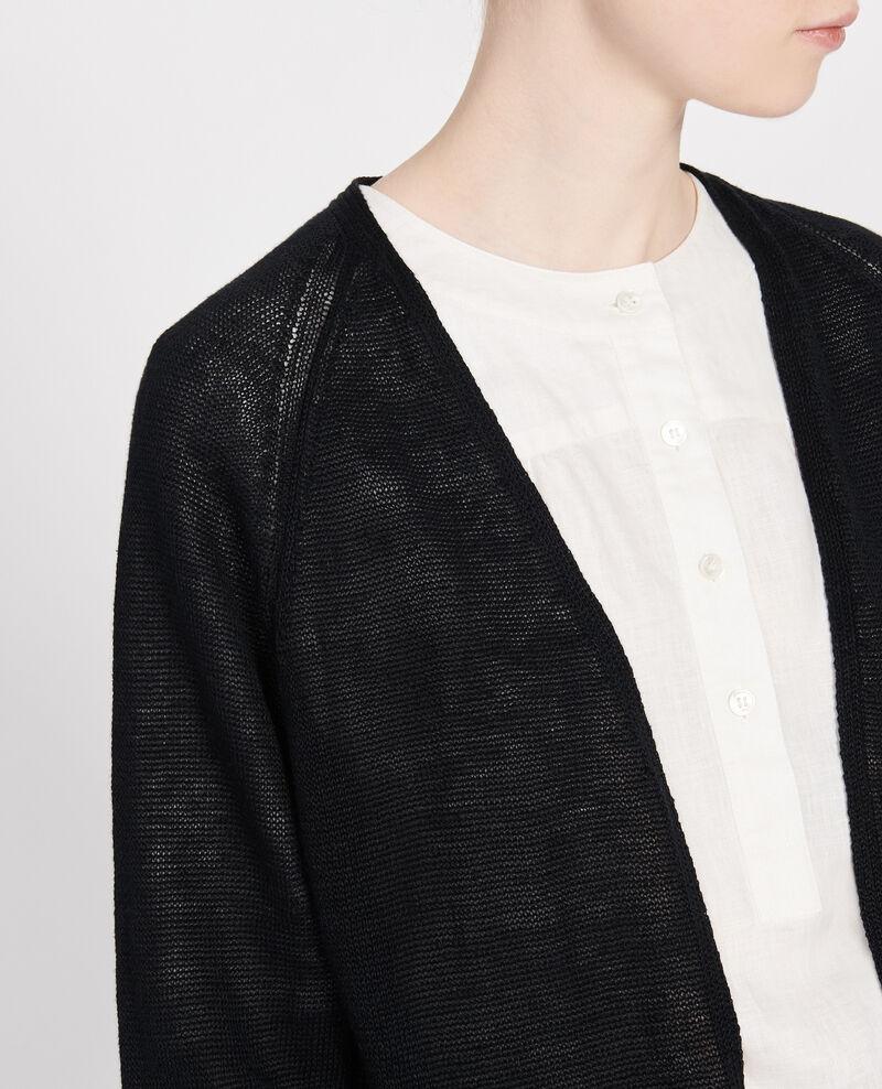 Linen cardigan Black beauty Lalima