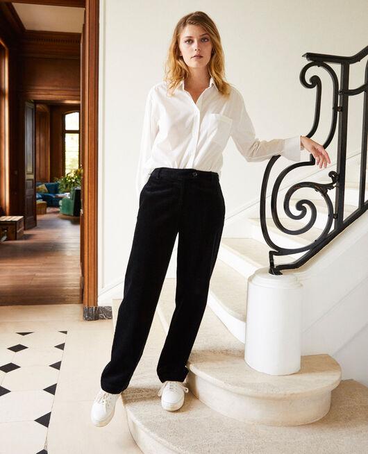 Corduroy trousers NOIR