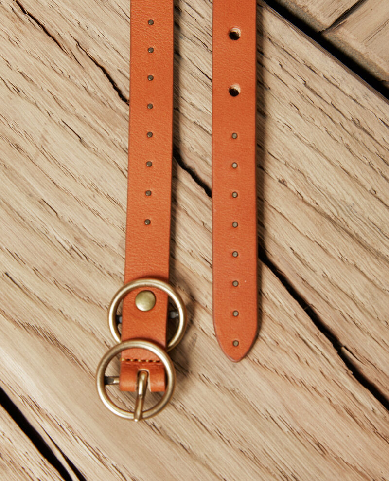 Leather belt  Camel Jistud