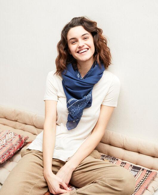 Printed scarf DARK NAVY