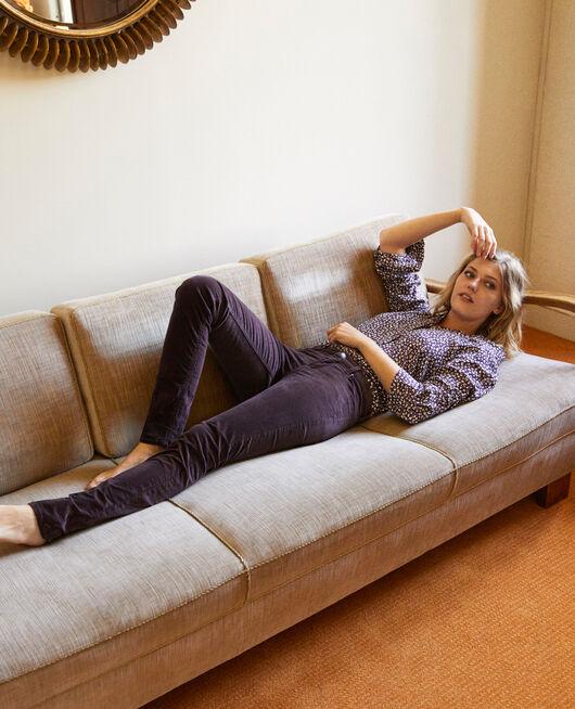 Smooth velvet trousers FUDGE
