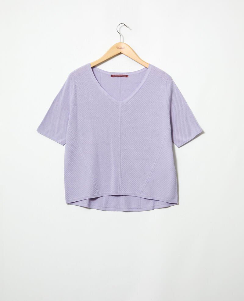 3D cotton jumper Purple Irankana