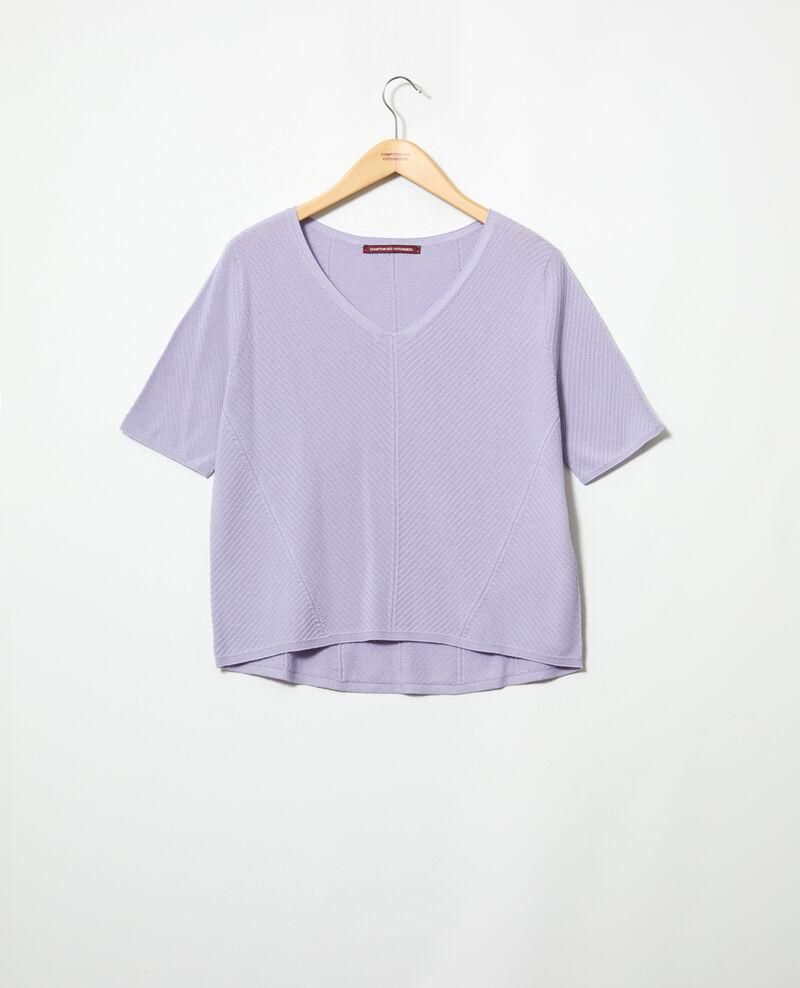 3D cotton jumper Purple Irankana