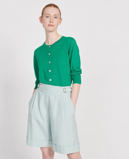 Linen cardigan GOLF GREEN