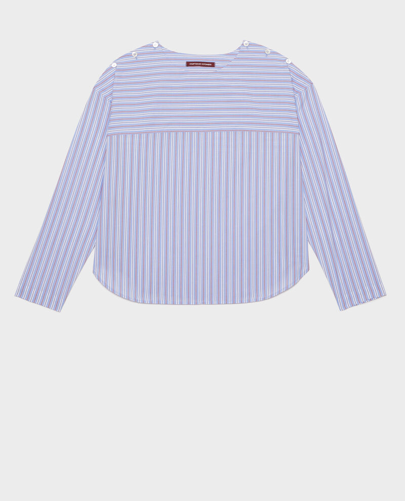 Striped oversize blouse Popeline stripes Lennon