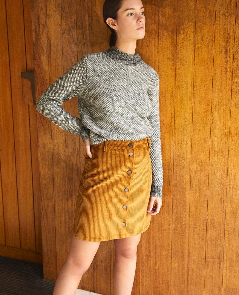Ribbed corduroy skirt Golden brown Gammon