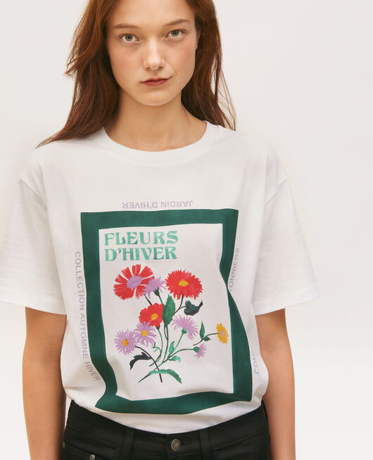 Wide cotton t-shirt DARK GREEN