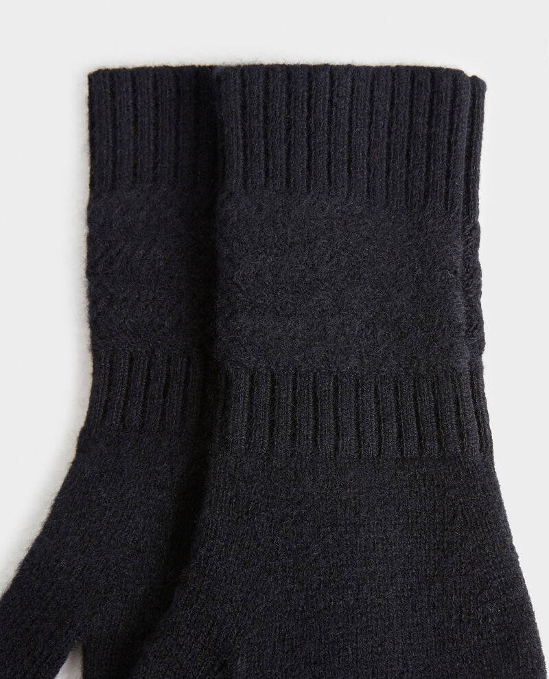 Cashmere gloves Black beauty Miramo